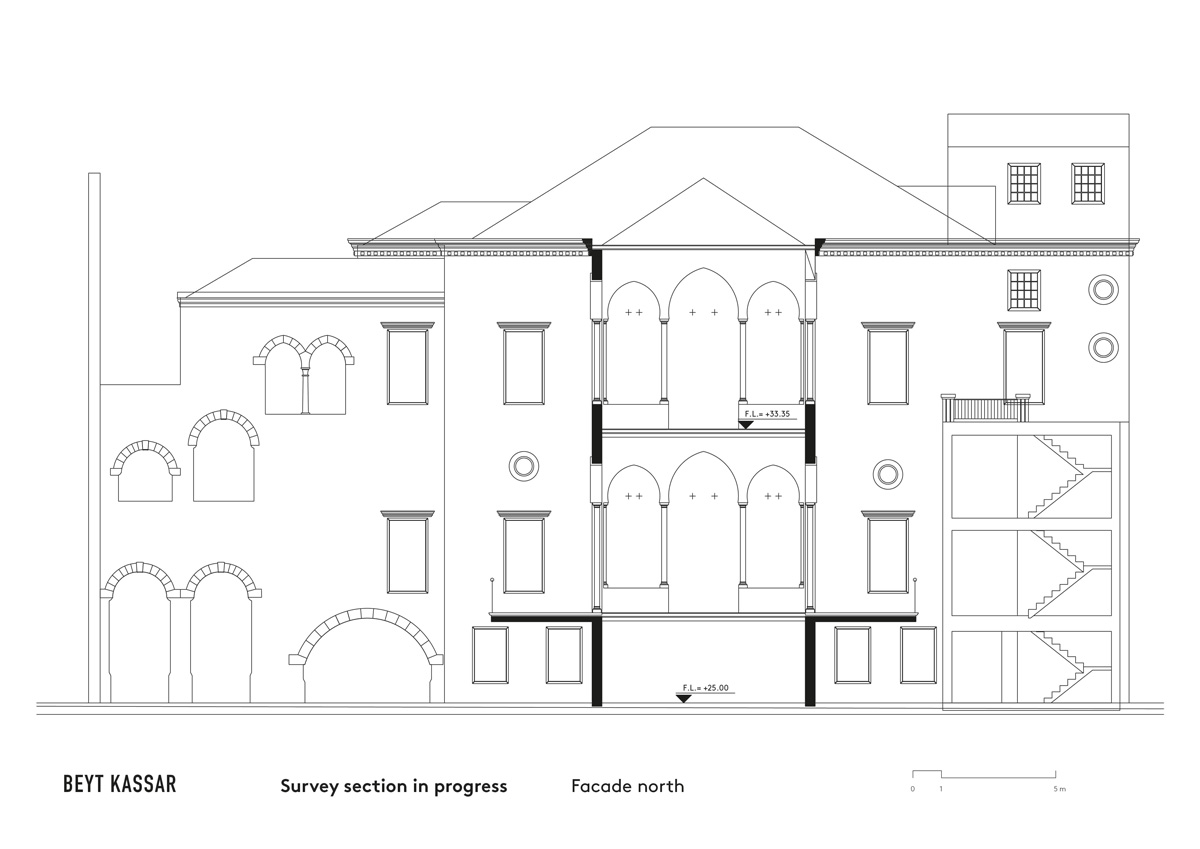 BEYT-KASSAR_survey-section-in-progress_facade-north_2