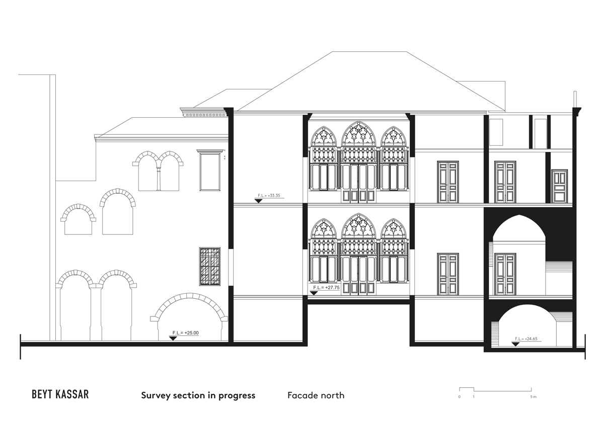 BEYT-KASSAR_survey-section-in-progress_facade-north_3