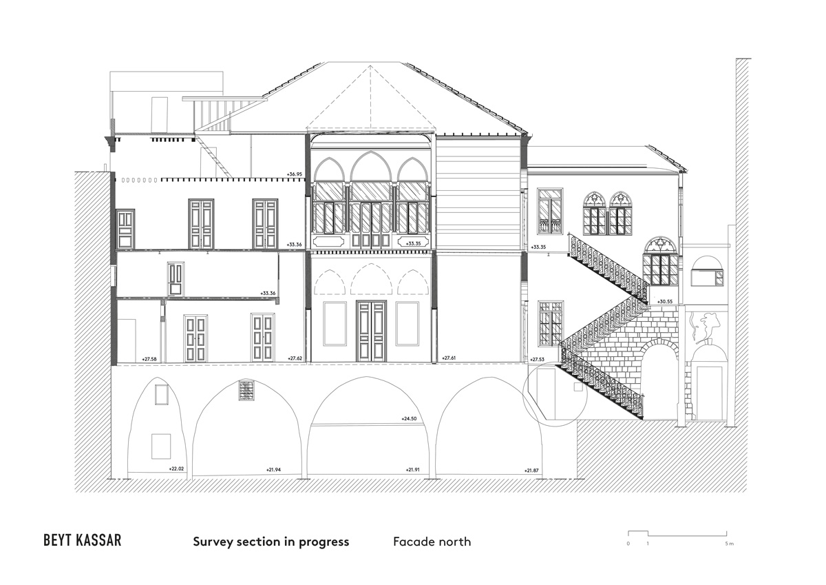 BEYT-KASSAR_survey-section-in-progress_facade-north