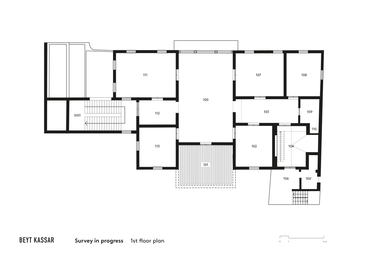 BEYT-KASSAR_survey-in-progress_1st-floor-plan