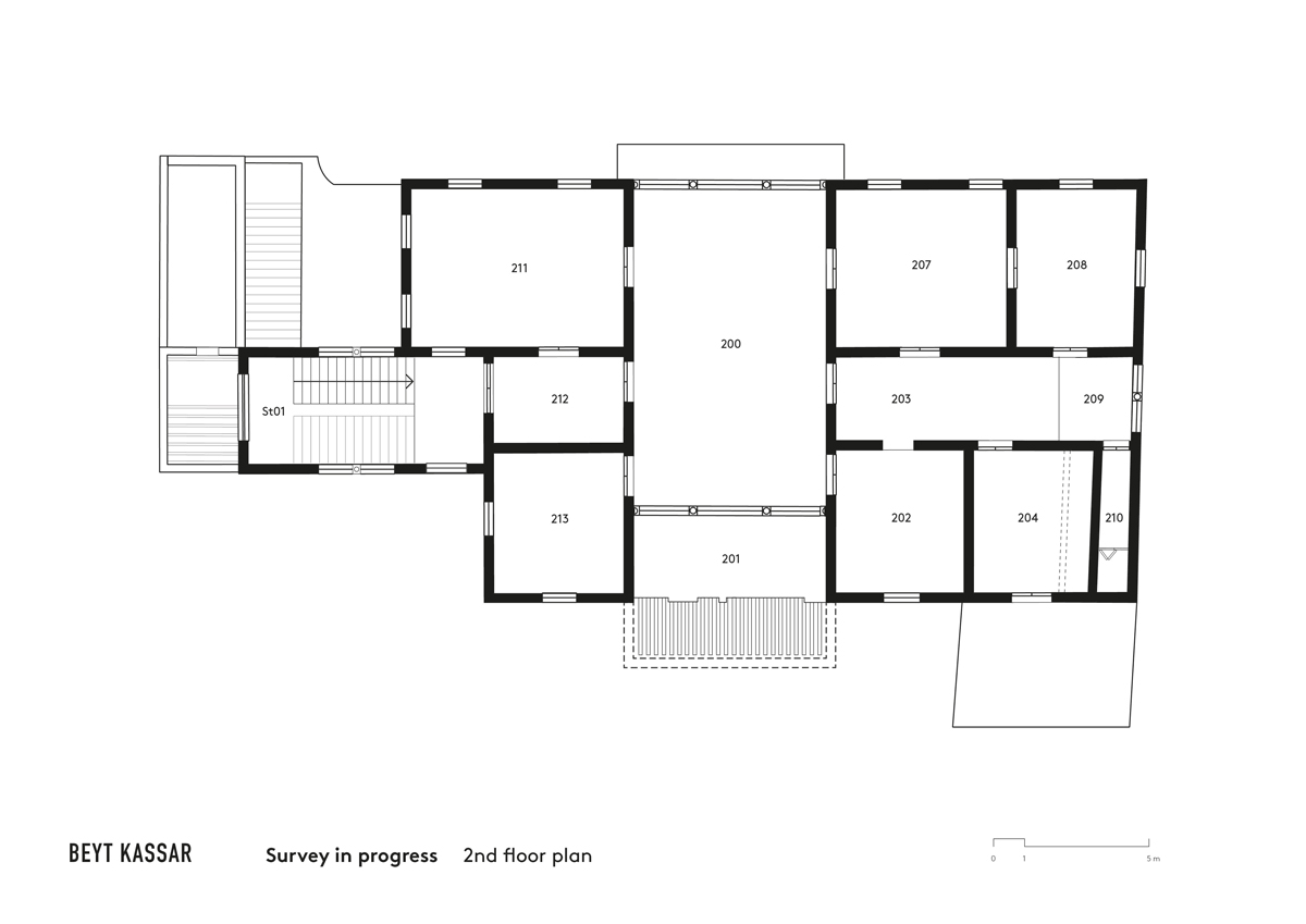 BEYT-KASSAR_survey-in-progress_2nd-floor-plan