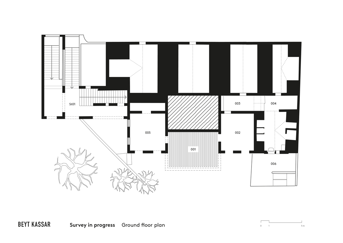 BEYT-KASSAR_survey-in-progress_ground-floor-plan