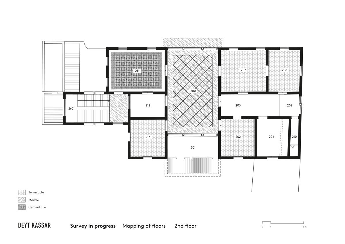 BEYT-KASSAR_survey-in-progress_mapping-of-floors_2nd-floor