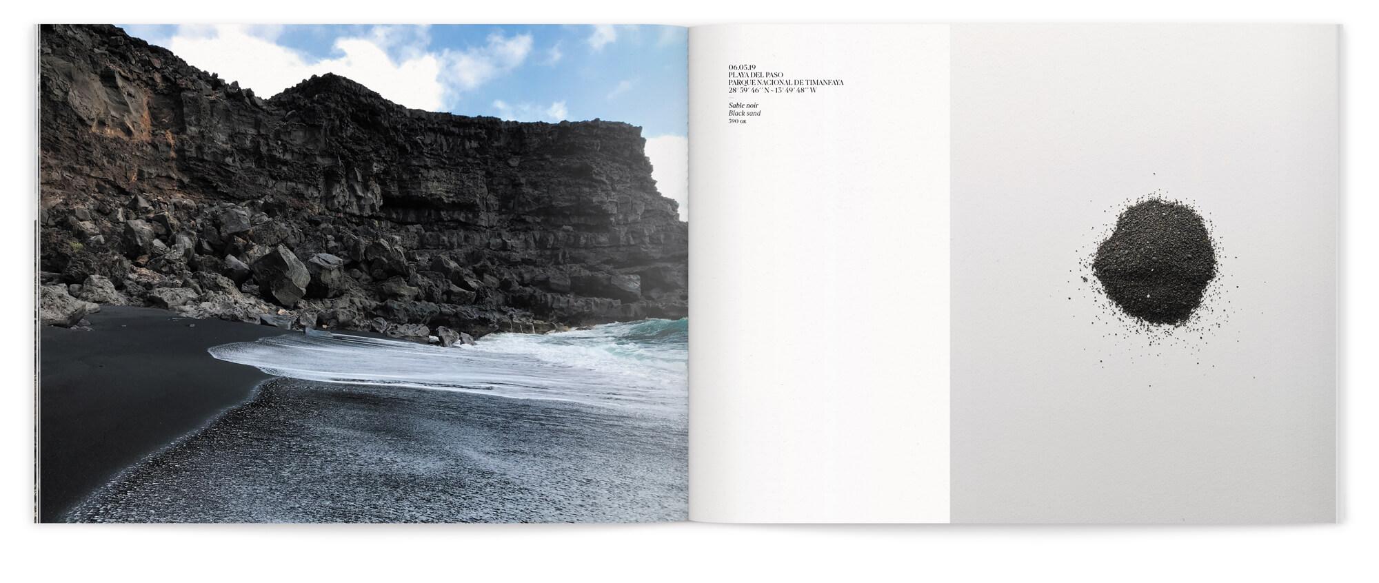 Livret relatant le voyage de Daniela Busarello sur l'Ile de Lanzarote, maquette et mise en page IchetKar