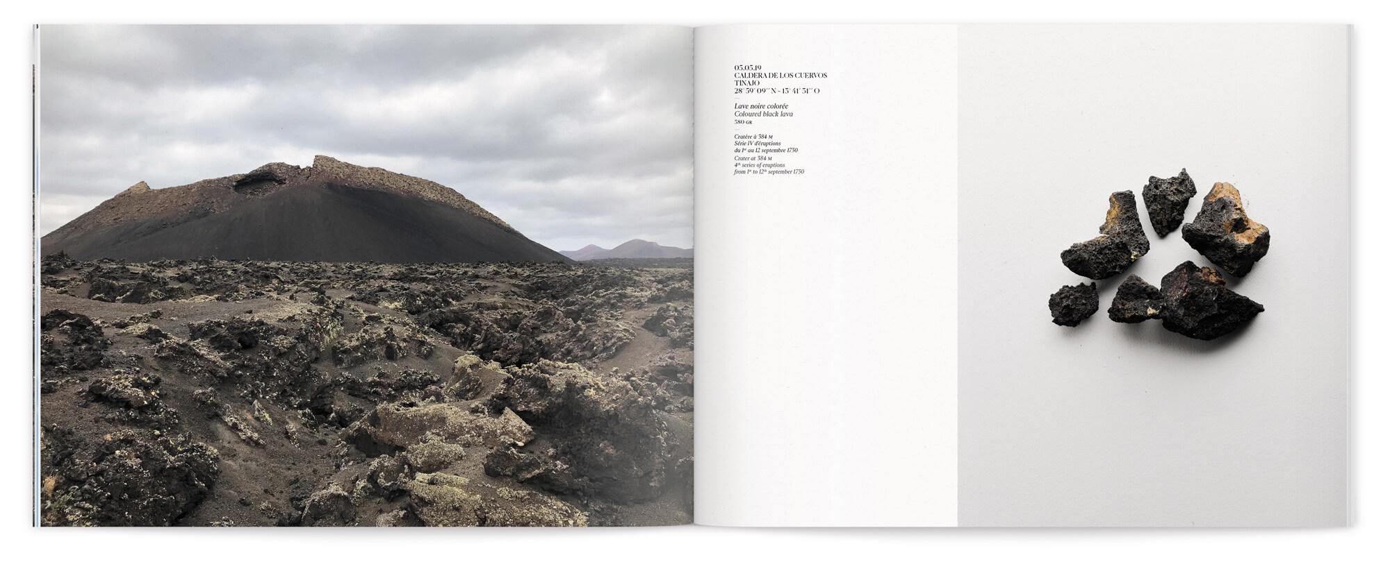 Photo de paysage et d'extrait de matière de l'ile de Lanzarote, design IchetKar