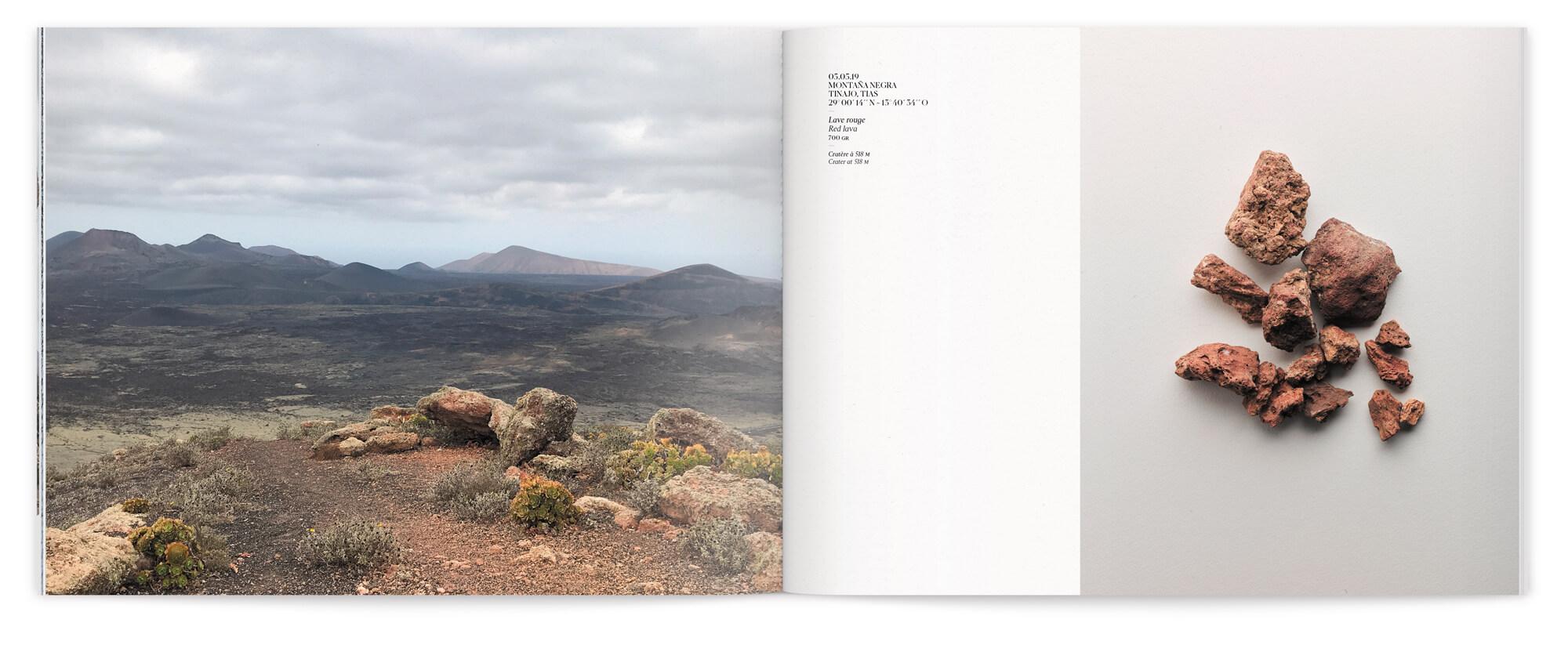 Photo de paysage et de roche extrait de l'Ile de Lanzarote, maquette et mise en page IchetKar