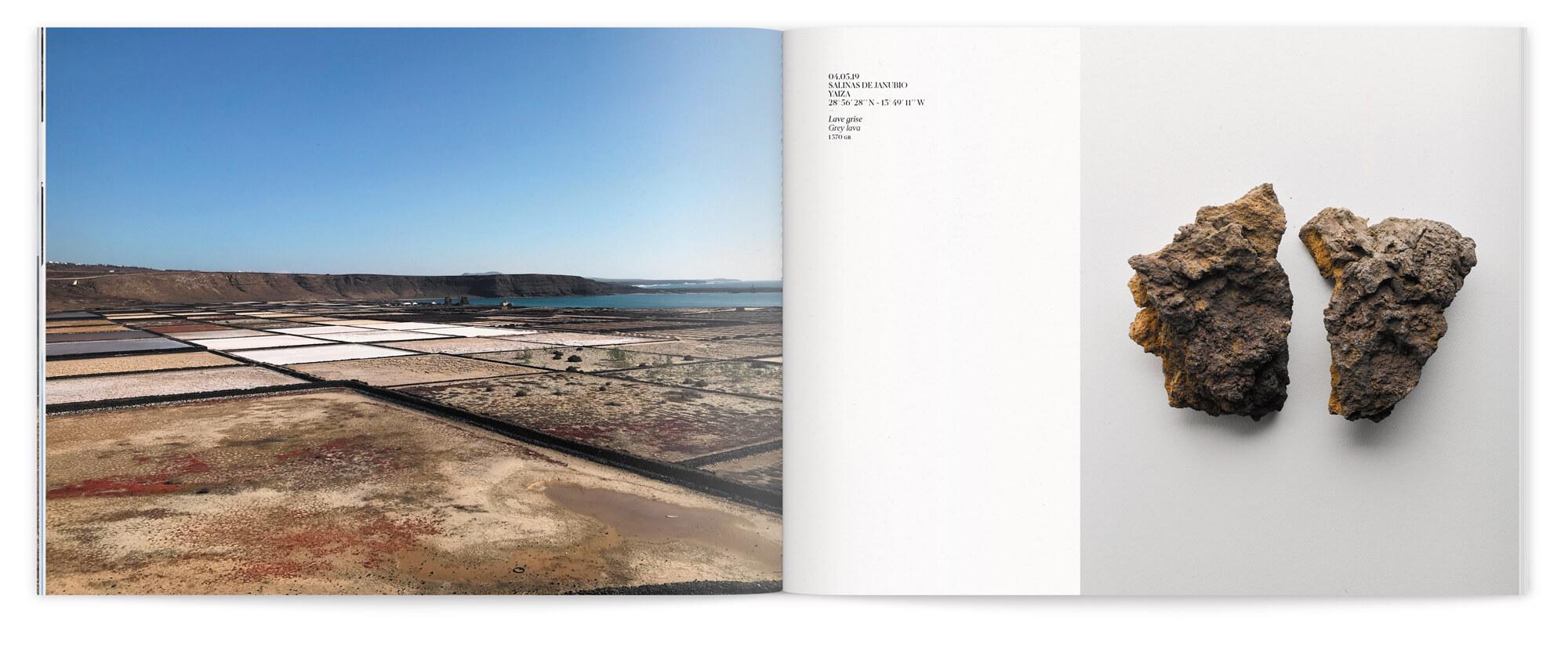 Le voyage de Daniela Busarello sur l'Ile de Lanzarote dans le livre design par les graphistes IchetKar