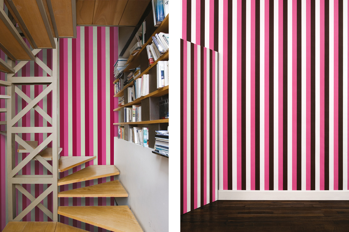 papier peint phosphowall rayures le jour, wallpaper phosphorescent, design ichetkar