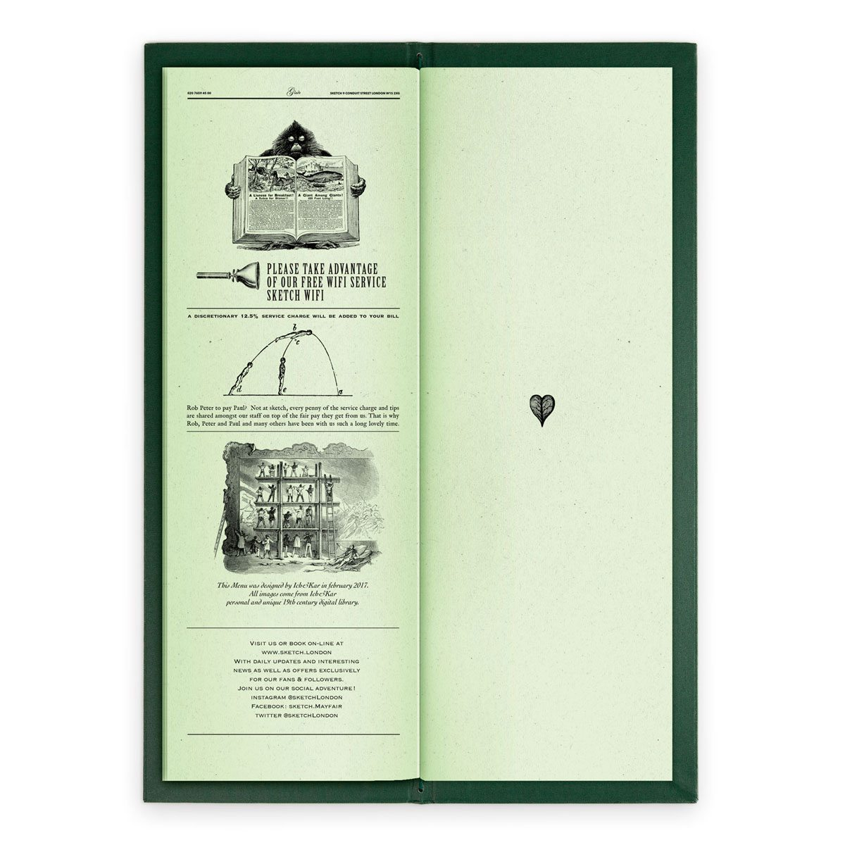 sketch london wine list glade green gravures anciennes engraving vintage punk forest free wifi