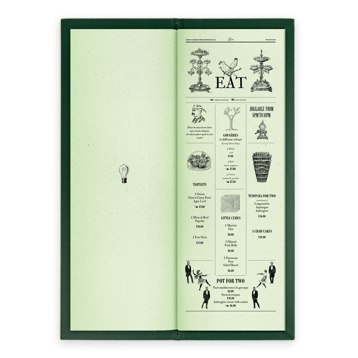 sketch london wine list glade green gravures anciennes engraving vintage punk forest eat