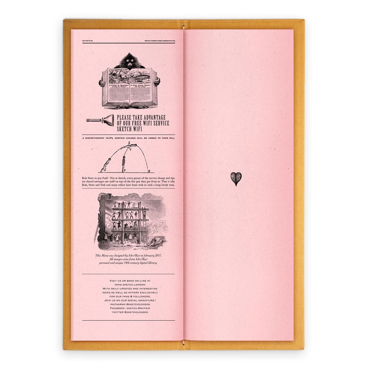 sketch london wine list parlour pink gravures anciennes engraving vintage punk forest free wifi
