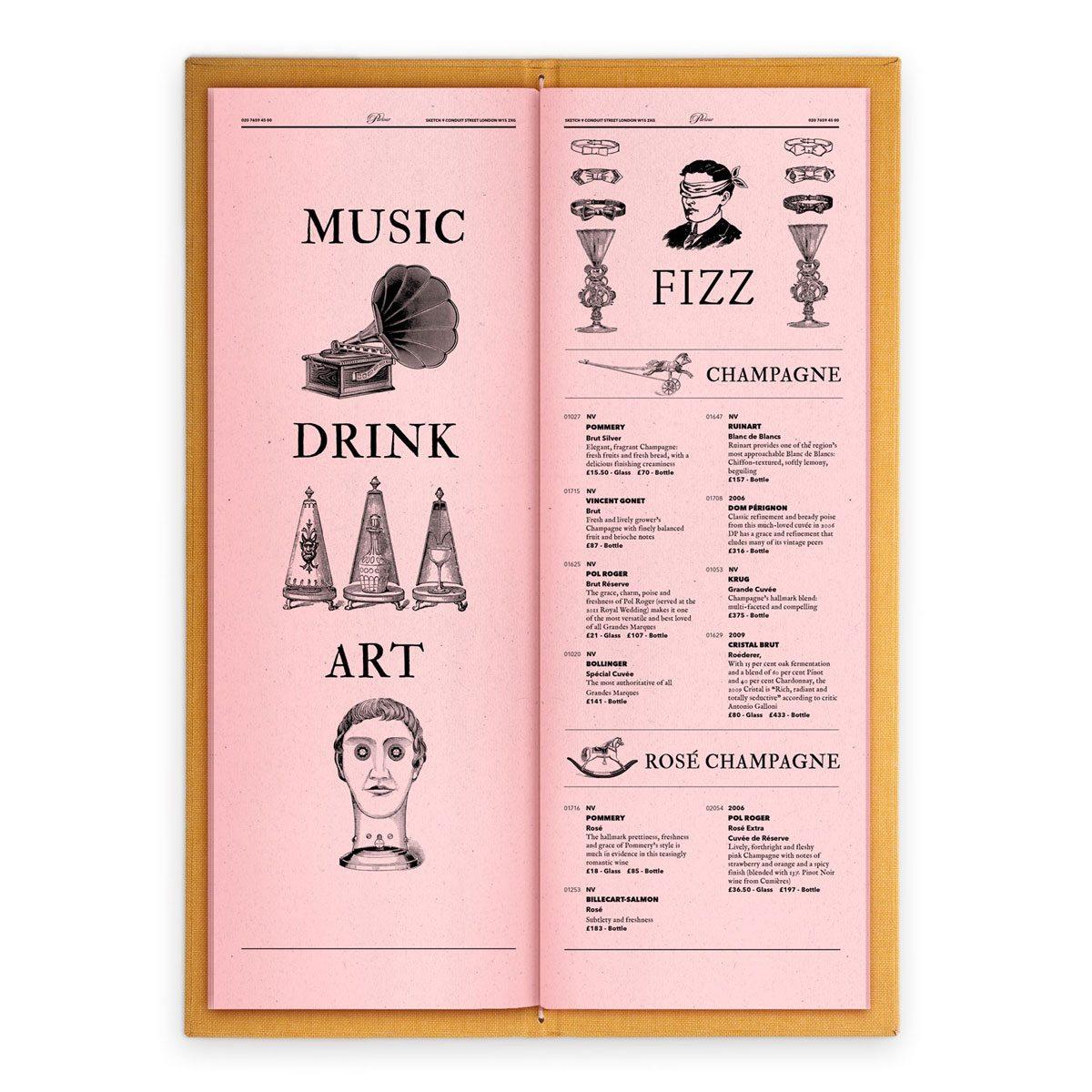 sketch london wine list parlour pinkn gravures anciennes engraving vintage punk champagne
