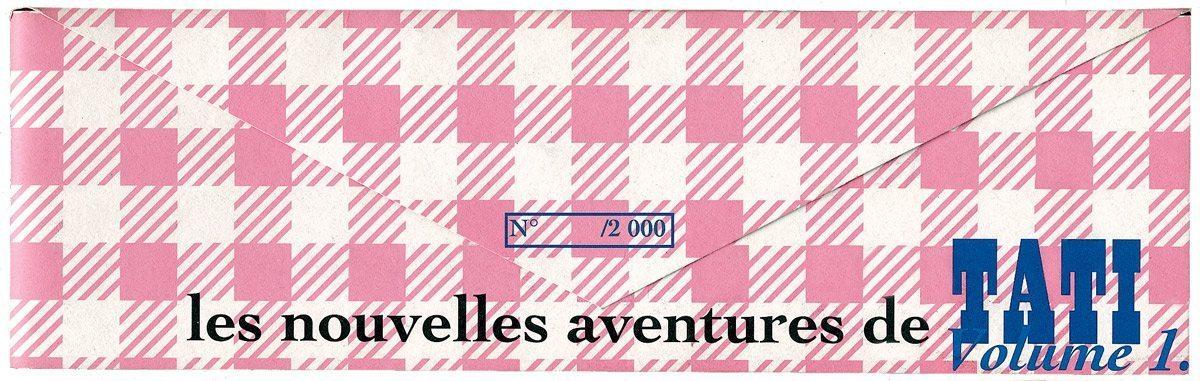Les nouvelles aventures de Tati, une enveloppe graphique à carreaux roses, design IchetKar