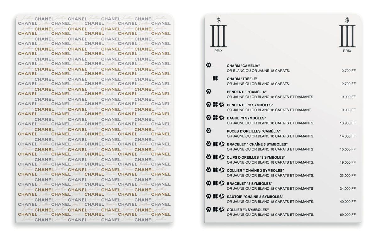 Ich&Kar dessine le catalogue III Symboles pour Chanel sous la forme de cartes à jouer.