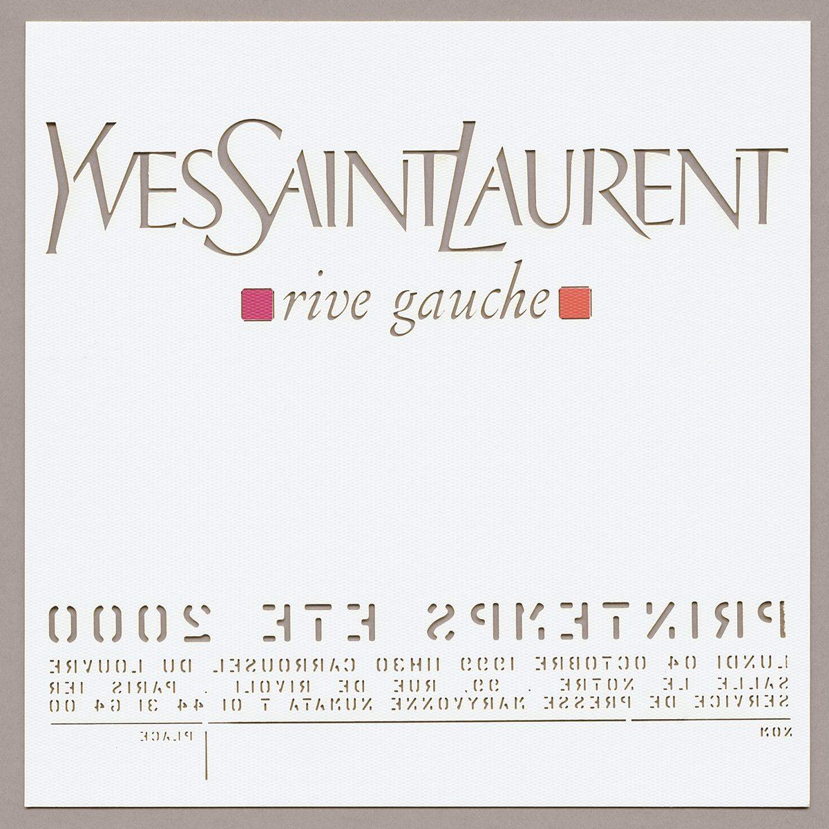 carton d'invitation Yves Saint Laurent par Ich&Kar pour albert Elbaz