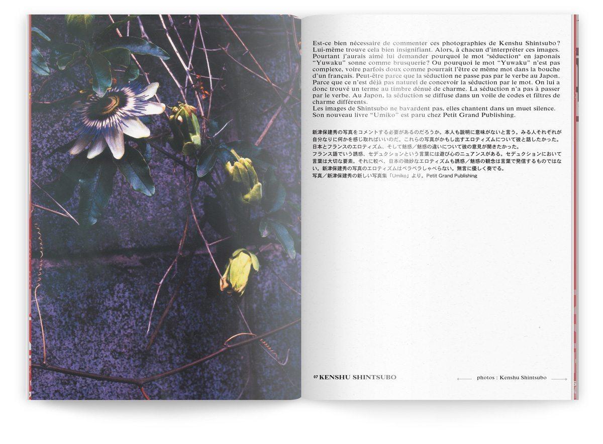 La photo de Kenshu Shintsubo en couverture du numéro 12 du fanzine franco-nippon pointu, design IchetKar
