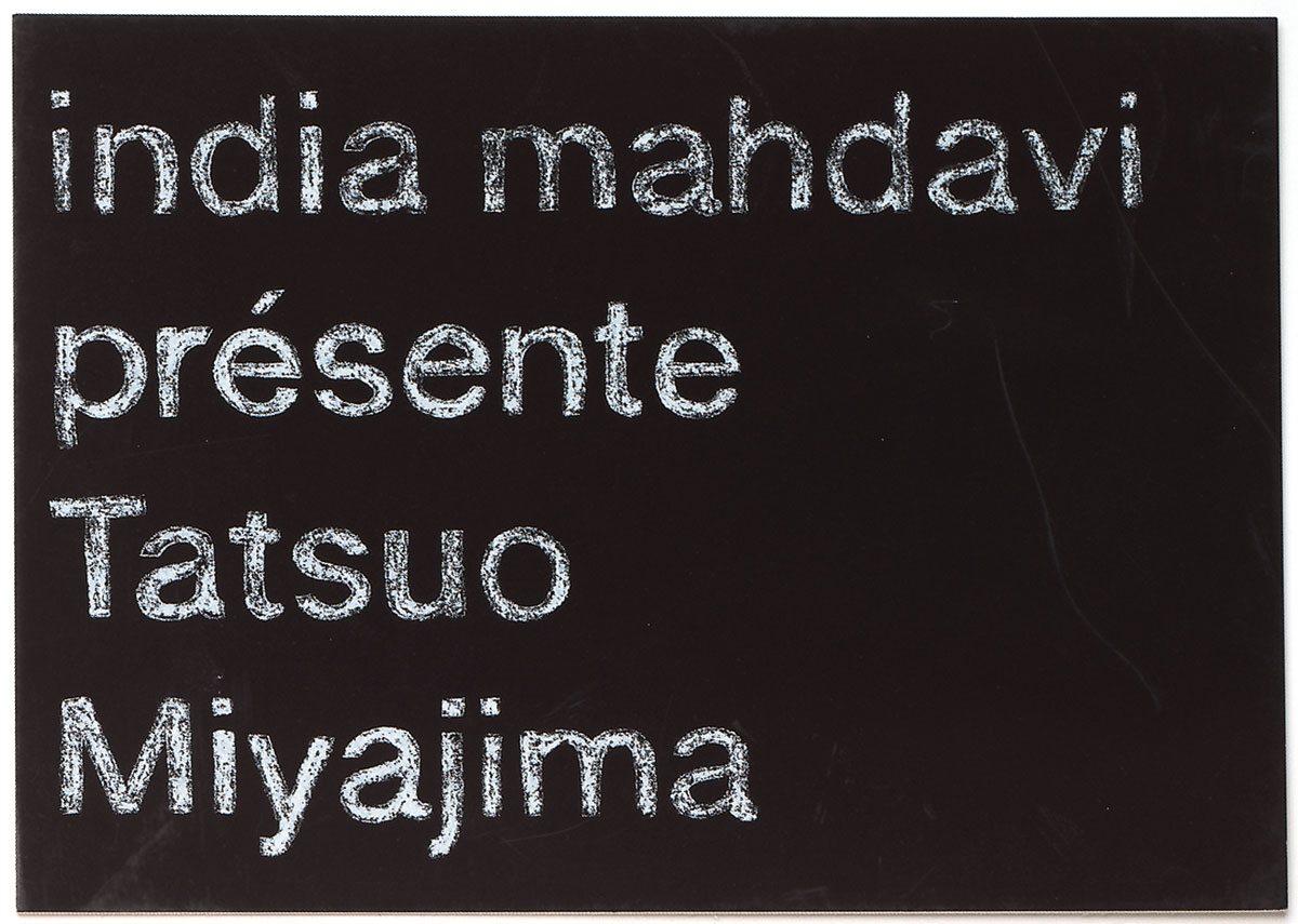 Carton d'invitation, India Mahdavi présente Tatsuo Miyajirma, effet craie et ardoise, design IchetKar
