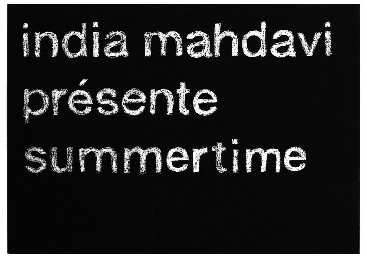Carton d'invitation, India Mahdavi présente Summertime, effet craie et ardoise, design IchetKar