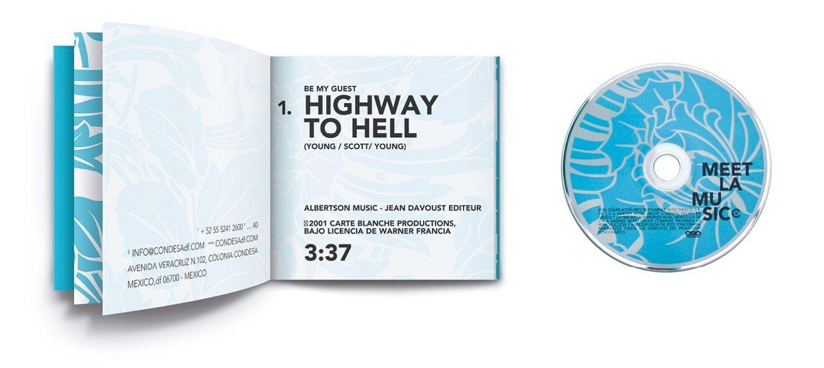 La pochette de la compilation du Condesa df, Meet la Music, design ichetkar
