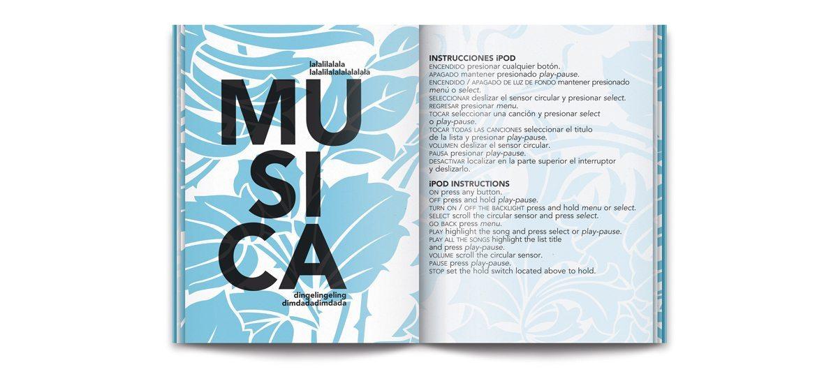 Le Room book du condesa df, la page music, design Ichetkar