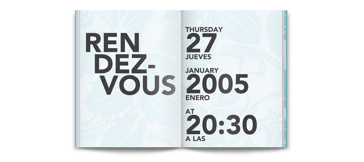 The invitation book du condesa df, design Ichetkar
