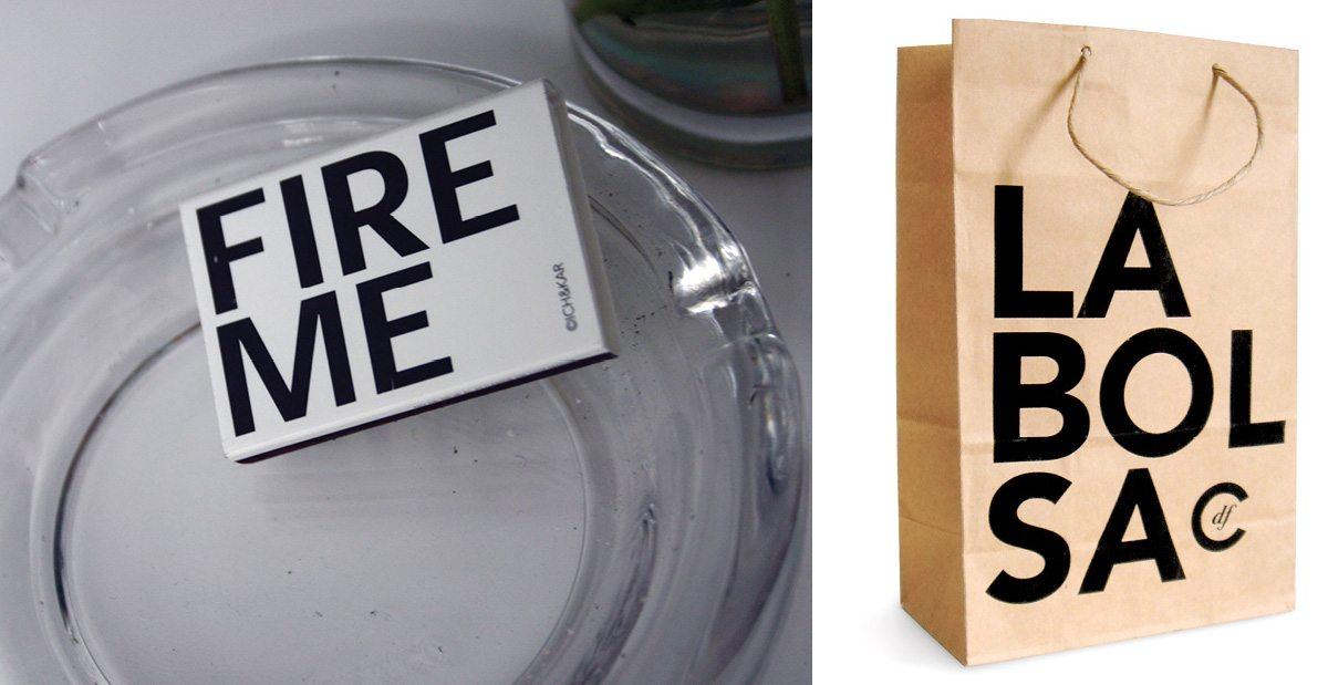 La boited'allumette Fire Me et le sac du Condesa Df à Mexico, design IchetKar