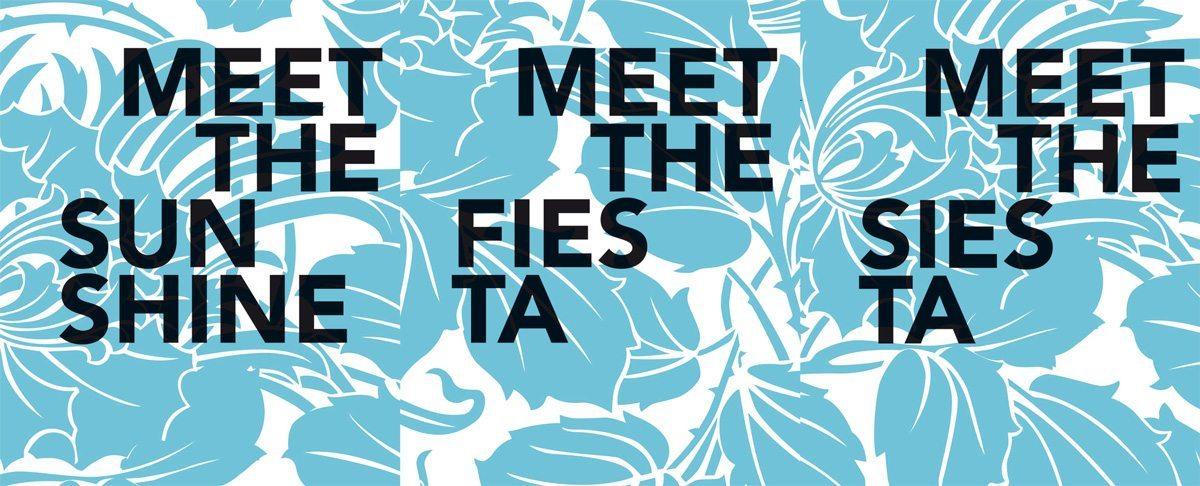 Motif du Condesa Df, Meet the sunshine, meet the fiesta, meet de siesta, design IchetKar