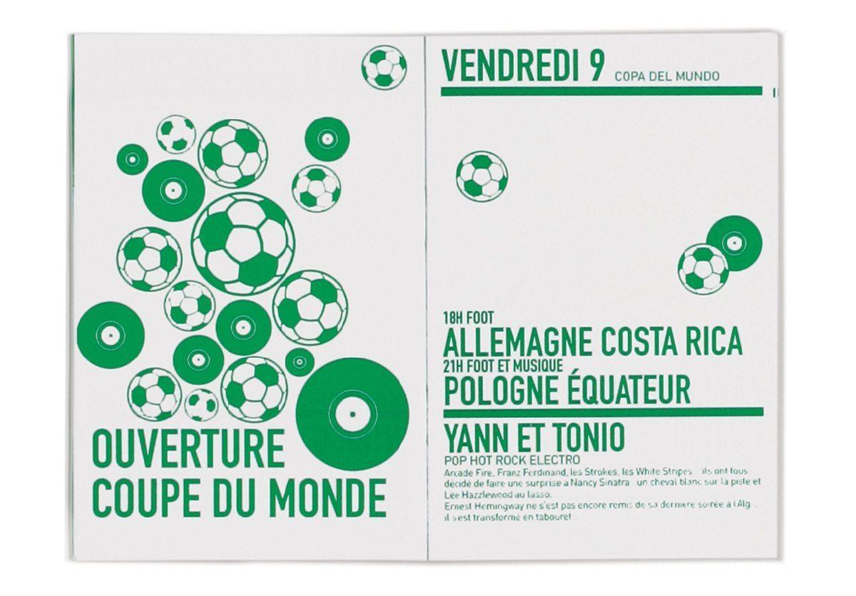 L'Algenda sur la page soirée coupe du monde de l'Alimentation Generale, design IchetKar