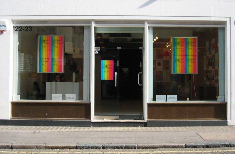 Devanture de la galerie Exposure à Londre pour l'exposition Ich&kar's diary.