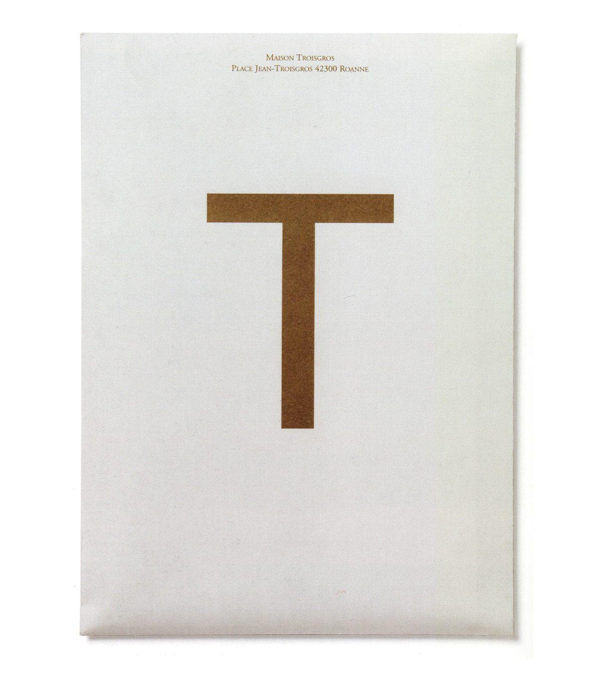 Enveloppe de la maison Troisgros, pour y glisser la brochure, design IchetKar