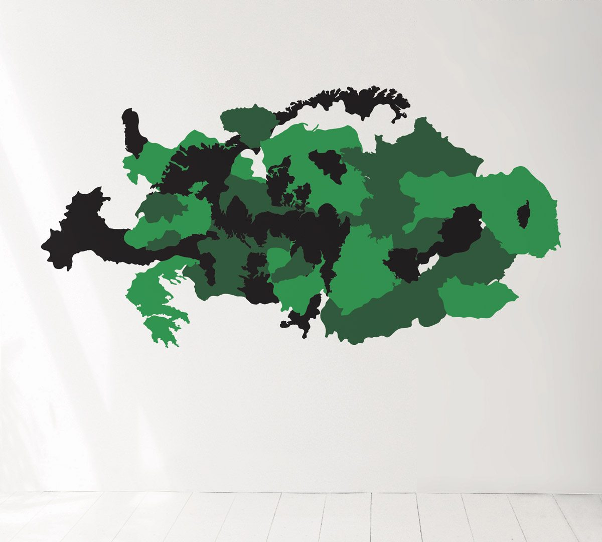 Le wallsticker Camouflage in the EU, design IchetKar, édition Domestic