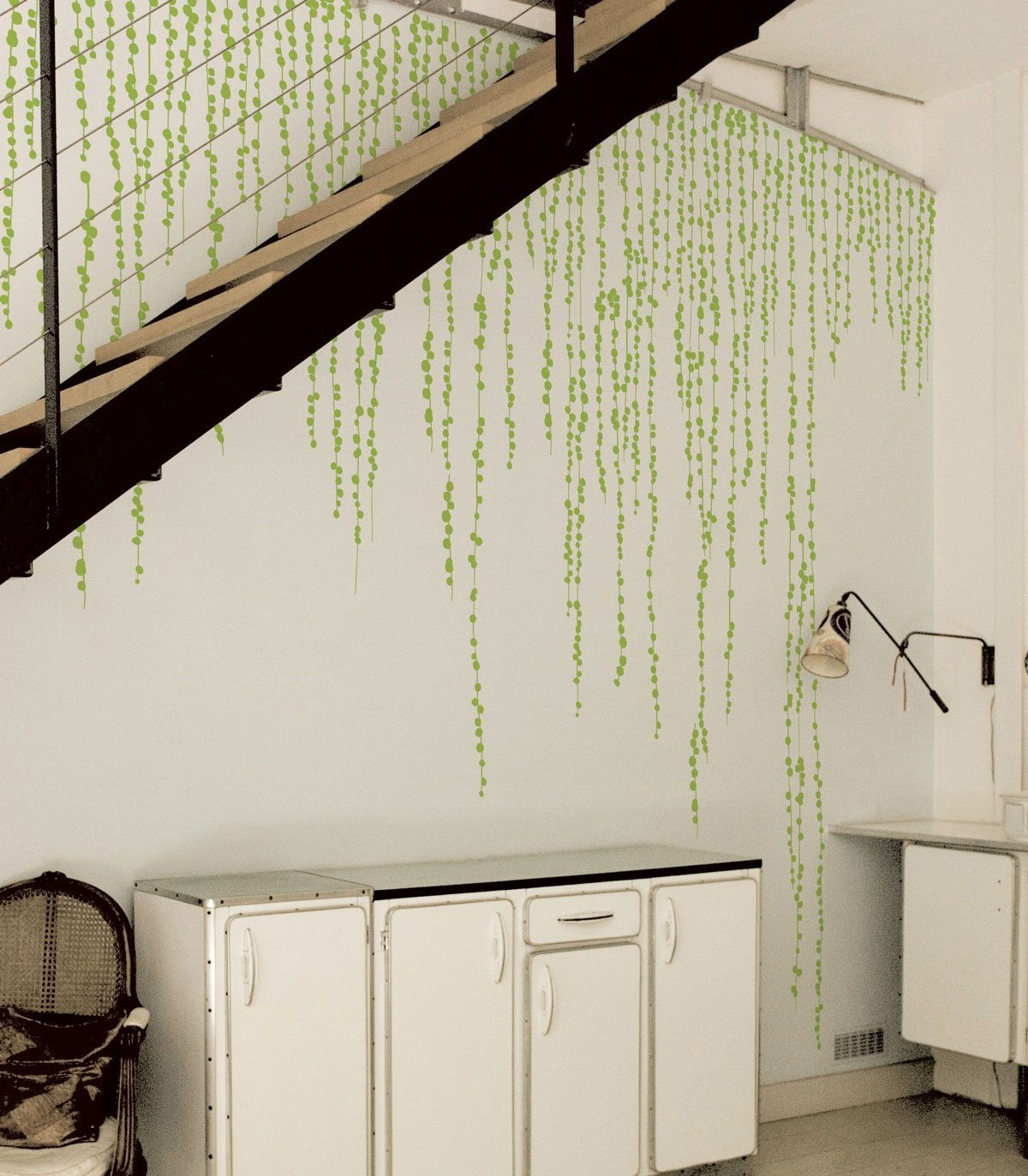 Le Wallsticker Jungle Peas, design IchetKar, édition Domestic