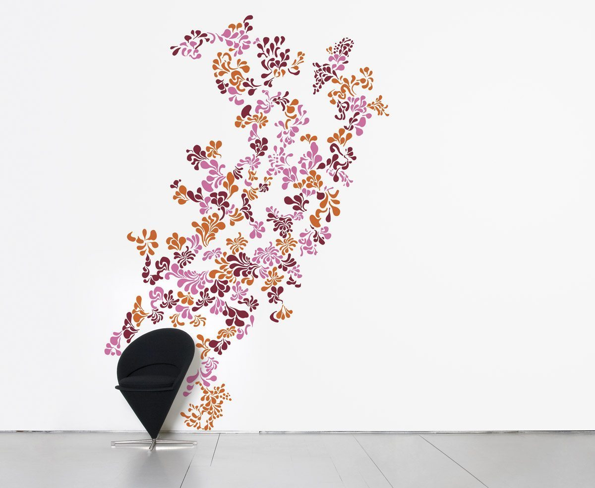 Le wallsticker mini pop flower, design IchetKar, édition Domestic