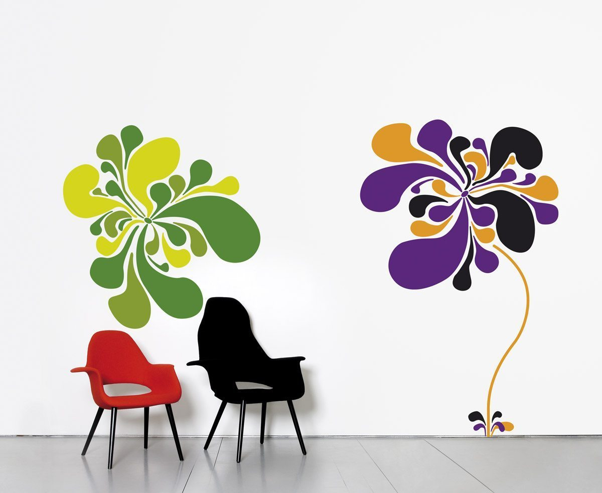 Le wallsticker Pop flower, design IchetKar, édition Domestic