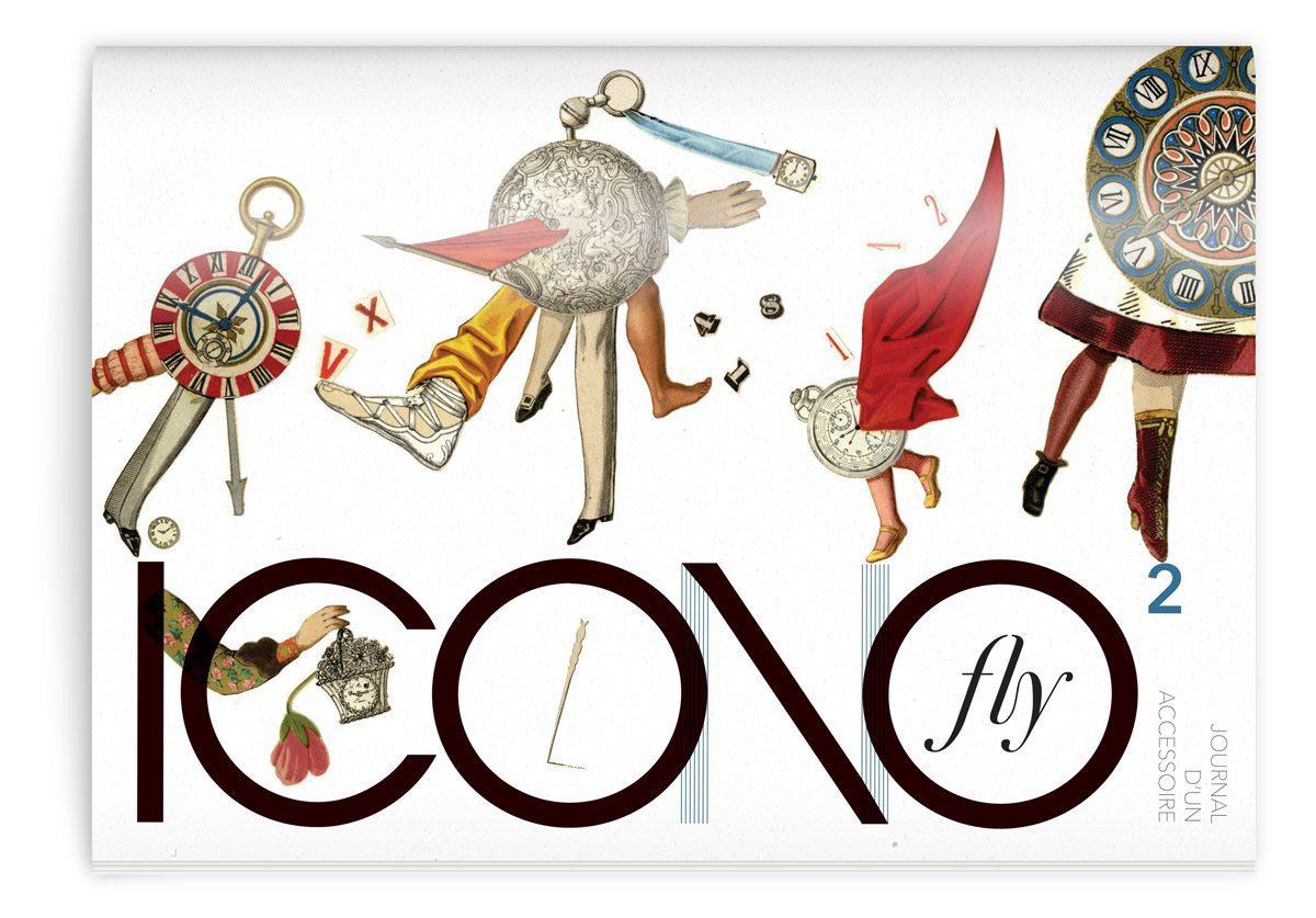 La couverture du magazine Iconofly, première revue d'art et d'histoire autour d'un accessoire, design IchetKar