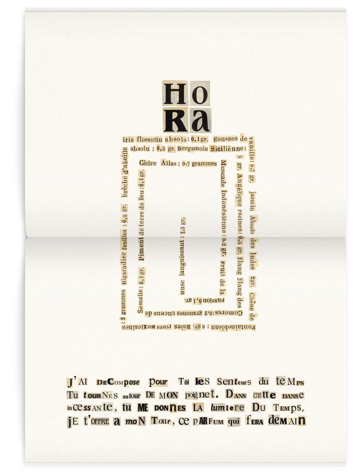 La page Hora du magazine Iconofly, revue d'art autour d'un accessoire, la montre, design IchetKar