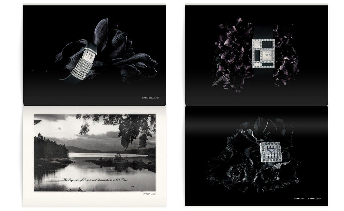 Les montres Chanel et Chopard dans le magazine Iconofly, revue d'art autour d'un accessoire, la montre, design IchetKar