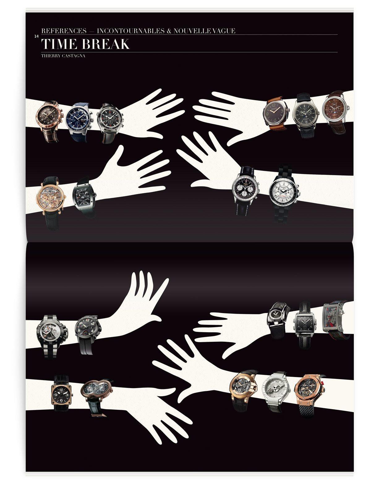 Montres incontournables et style nouvelle vague, montres de marque pour le magazine Iconofly, revue d'art, design IchetKar
