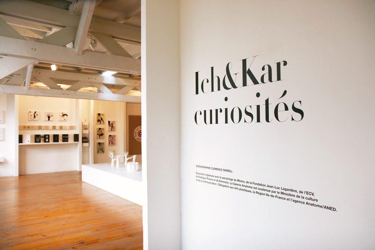 L'entrée de l'exposition IchetKar curiosités à la galerie Anatome, Paris