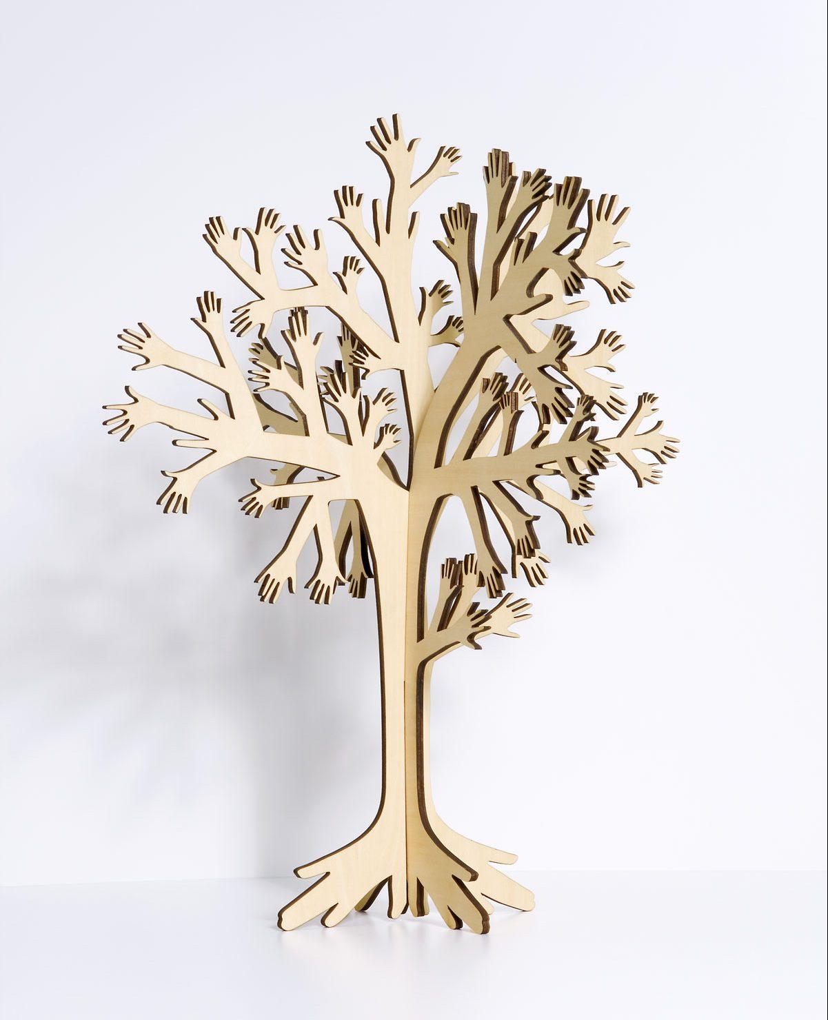 My tree, collection 123 furniture de Domestic, arbre en planche de bouleau, design IchetKar