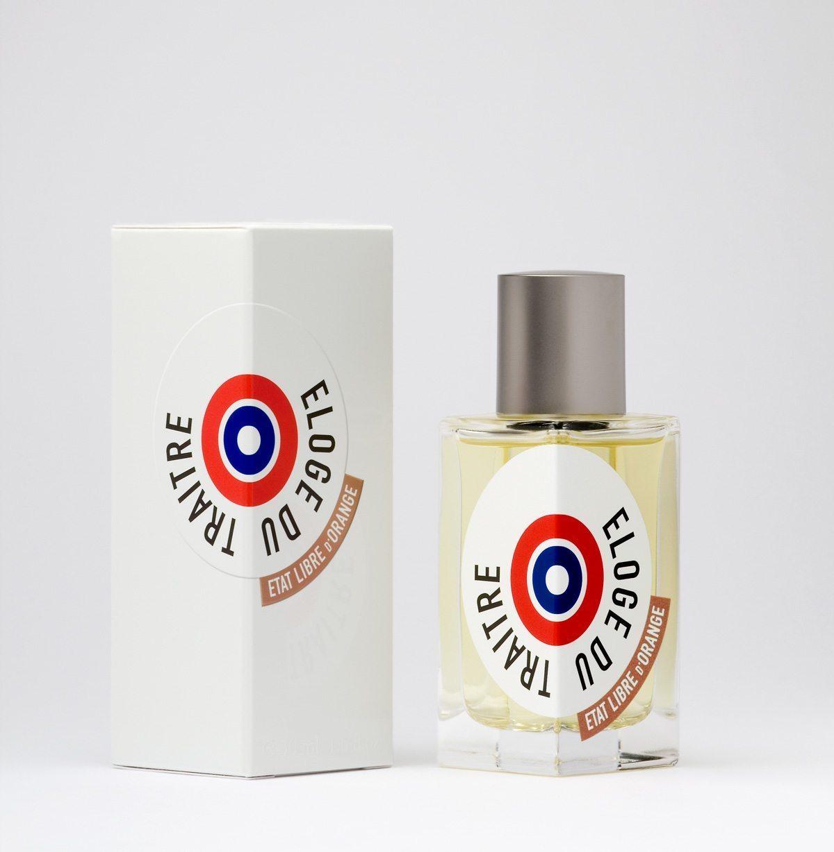 éloge du traitre d'état libre d'orange, un parfum de luxe orné de l'identité visuelle d'ich&kar