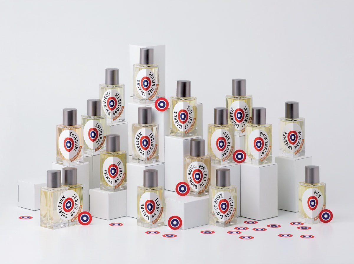 Ichetkar réalise la mythique identité visuelle du parfumeur État Libre d'Orange, une cocarde révolutionnaire