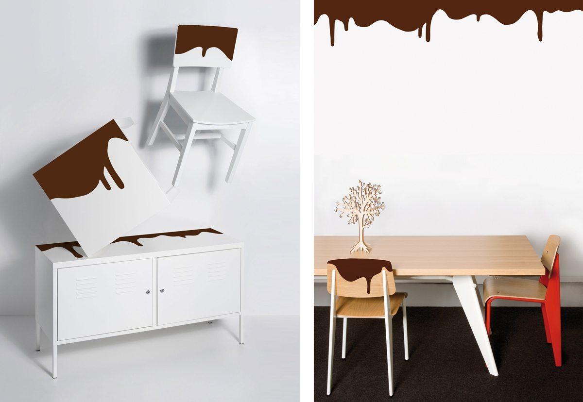 Wallstickers Domestic, chocolate, design IchetKar