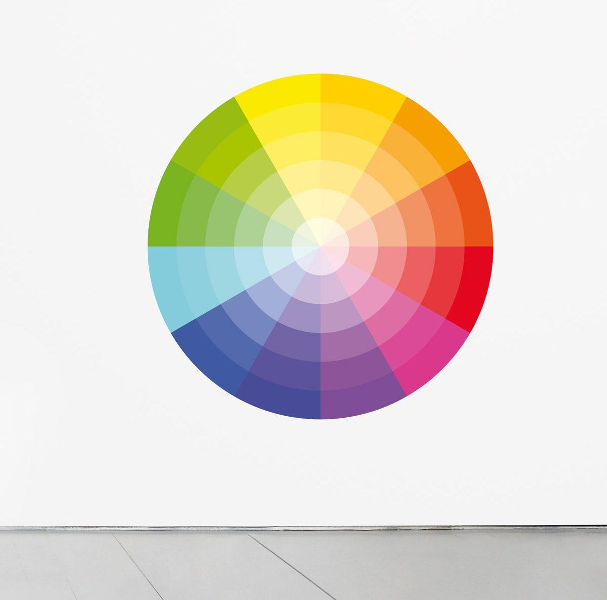 Wallstickers Domestic, chroma, cercle chromatique, design IchetKar