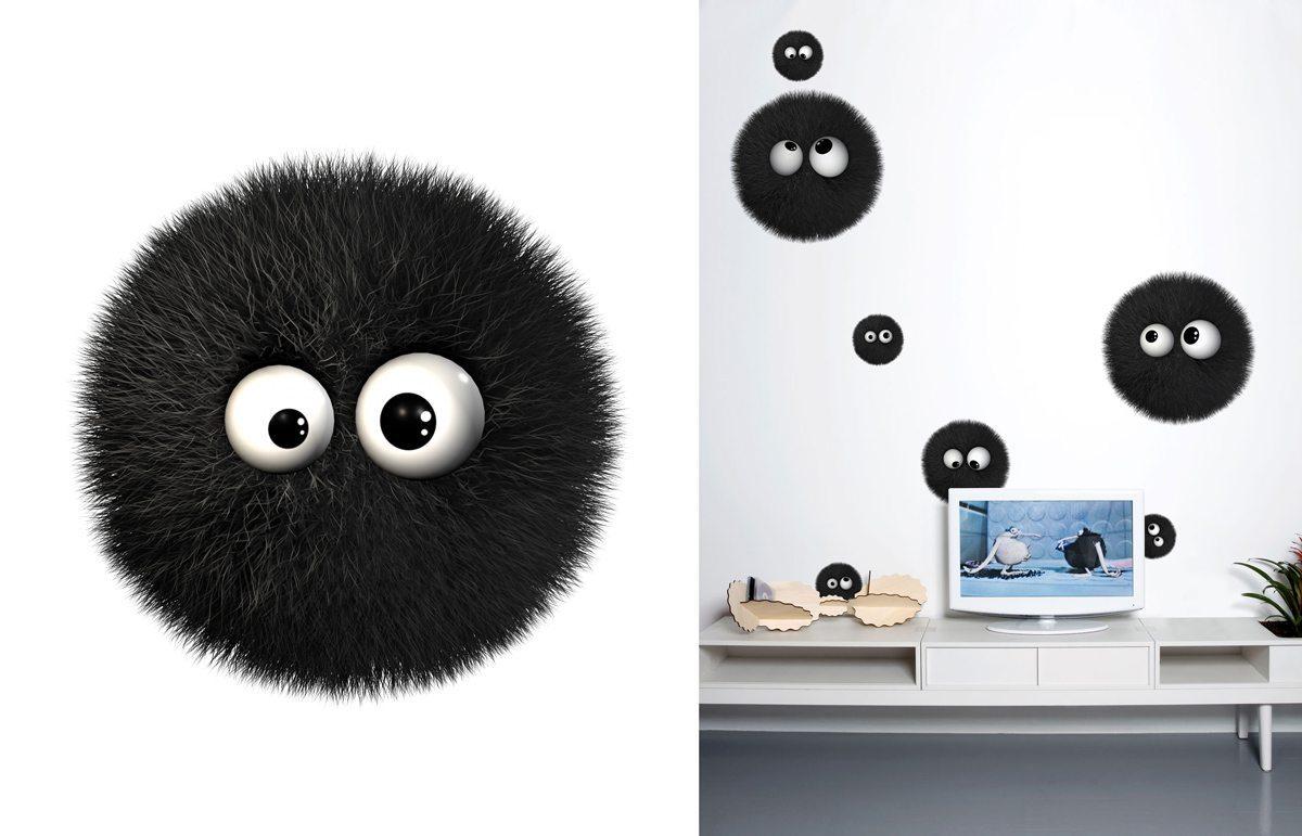 Wallstickers Domestic, la boule, inspiré des personnage Kiss Cool, design IchetKar