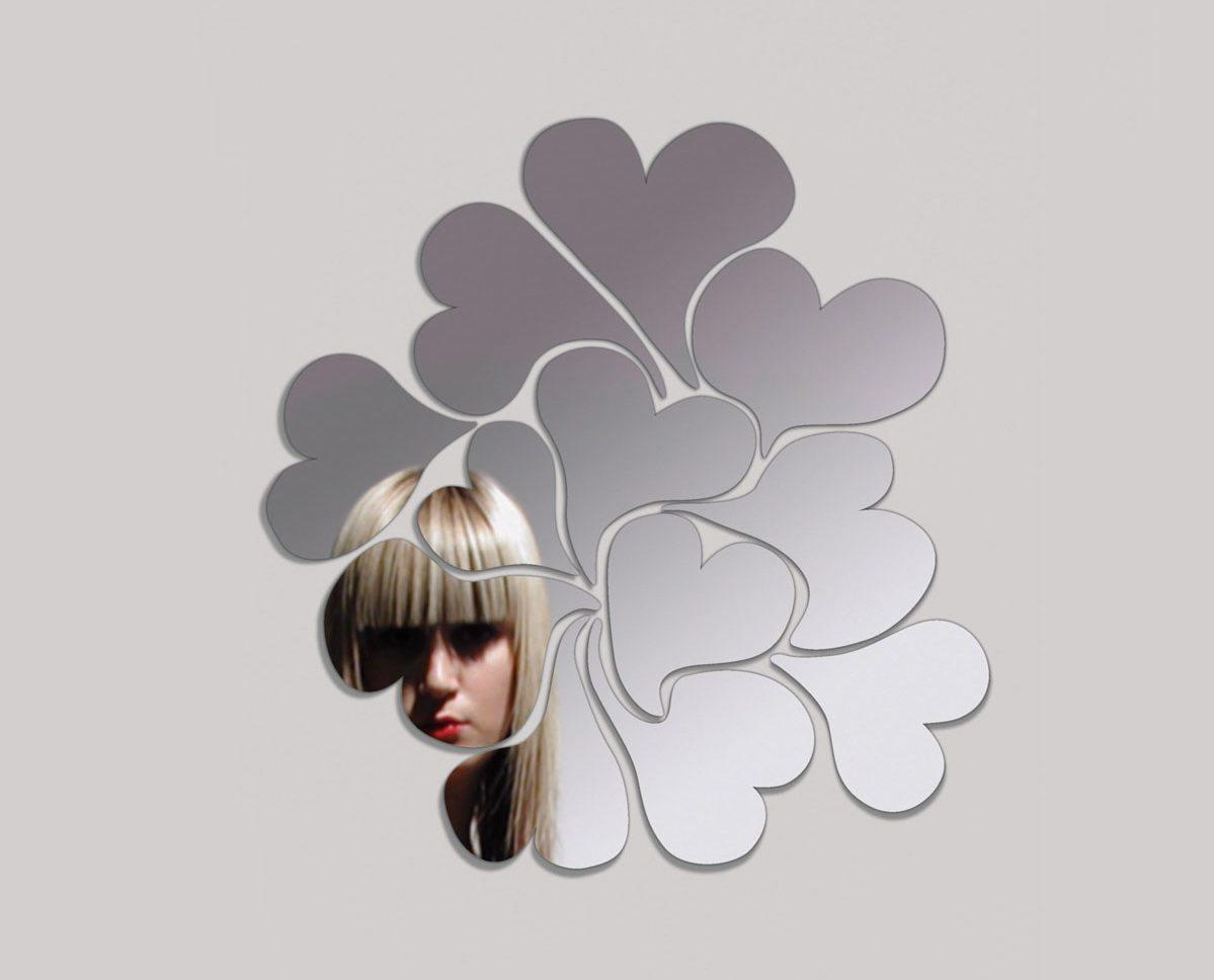 I love me, miroir design en forme de coeurs, design Ichetkar edition Domestic