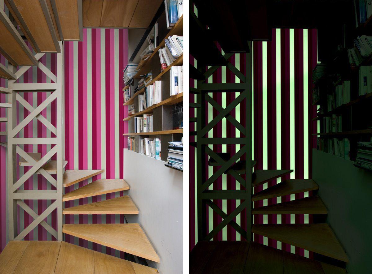 papier peint à encre phosphorescente collection phosphowall - design ichetkar
