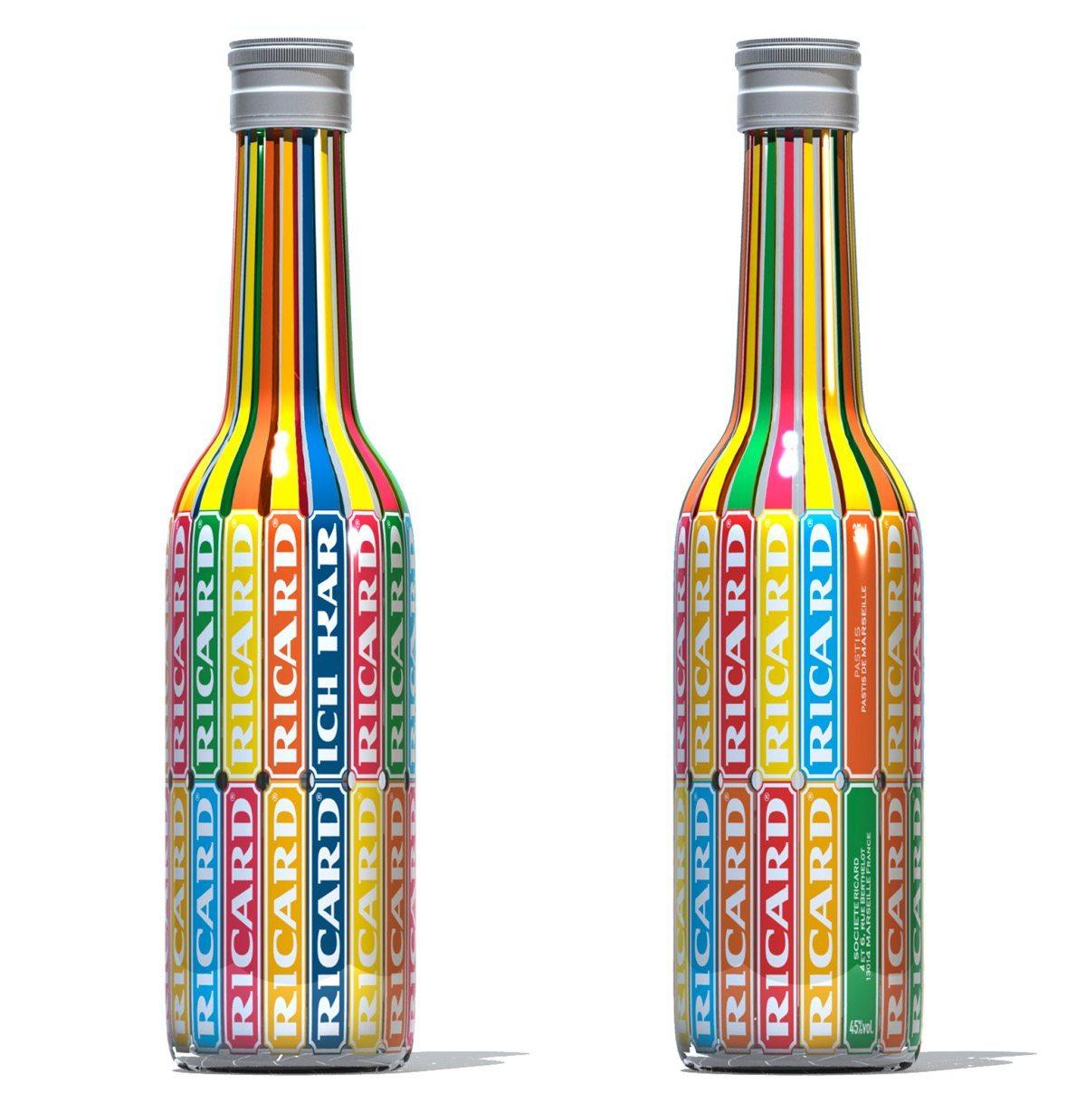 La collaboration entre IchetKar et Ricard, une bouteille colorée à l'allure pop