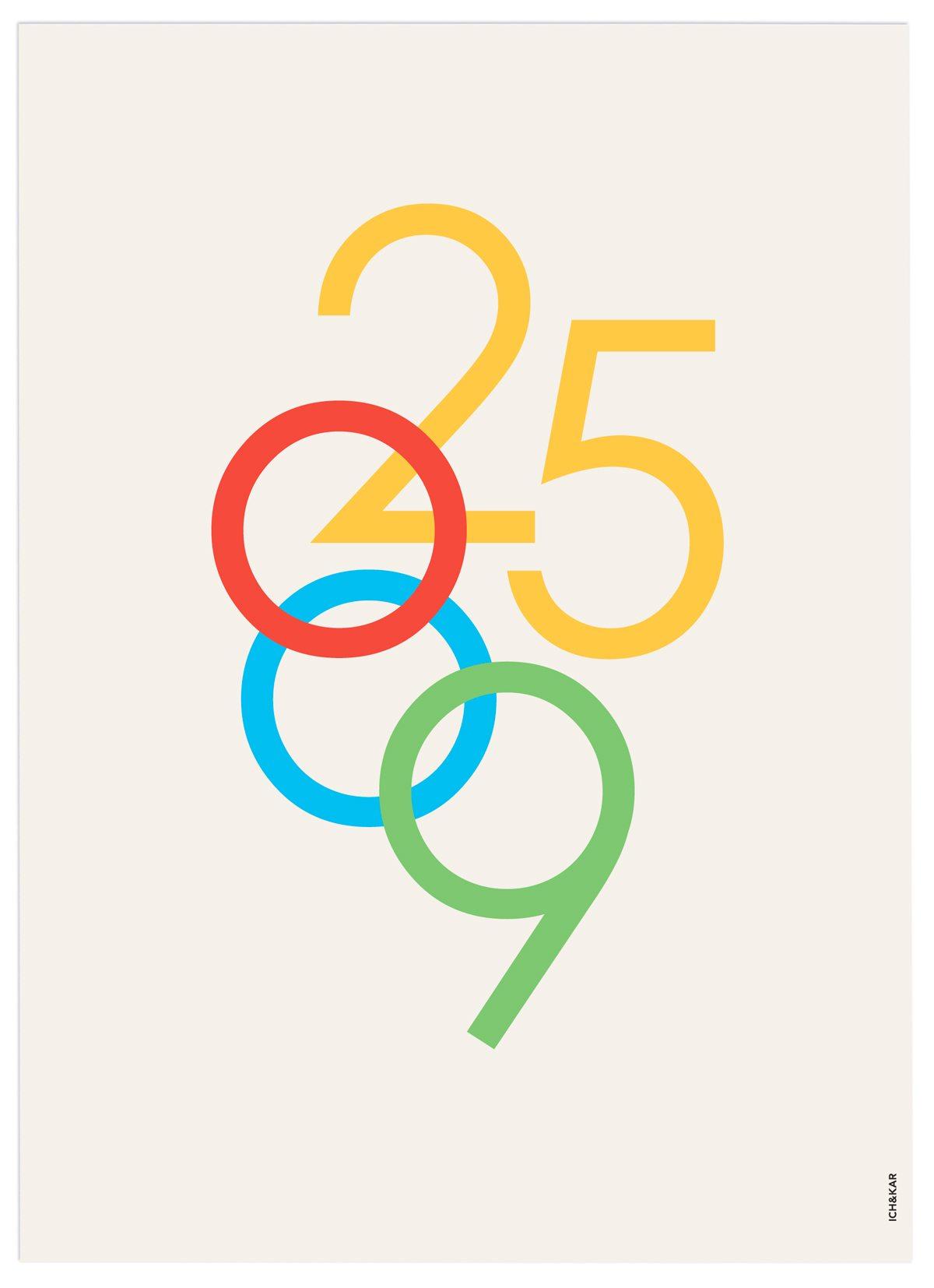 ecv carte de voeux 2009 recto anniversaire 25 ans IchetKar