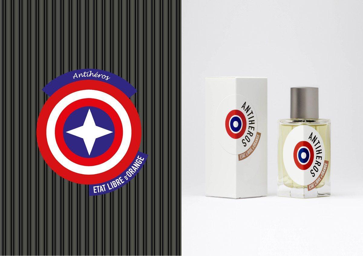 Parfum Antiheros, État Libre d'orange. Design et illustration IchetKar